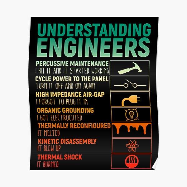 Vintage Understanding Engineers Poster