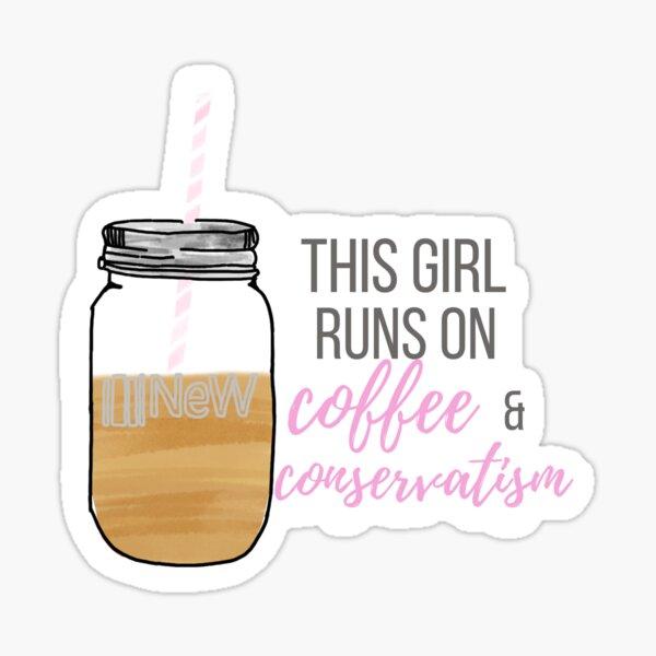 This Girl Runs on Coffee Sticker