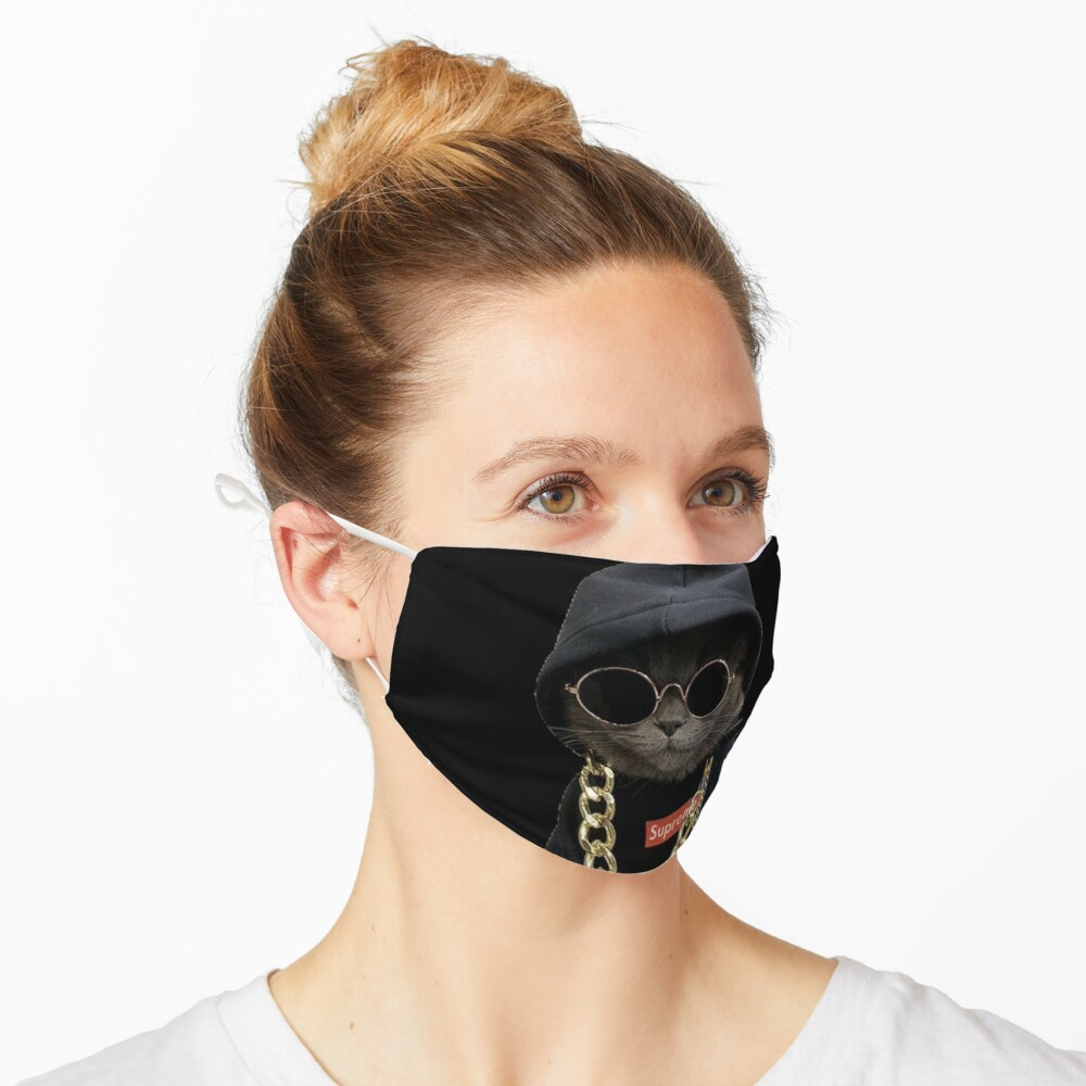 Hood Cat face design Mask