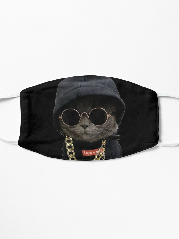 Alternate view of Hood Cat face design Mask