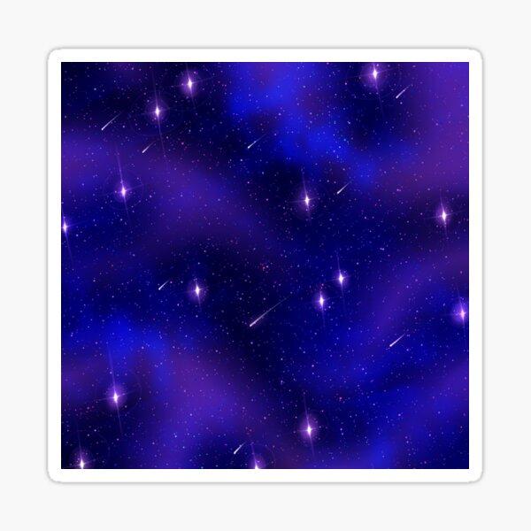 Dark starry Galaxy Sticker