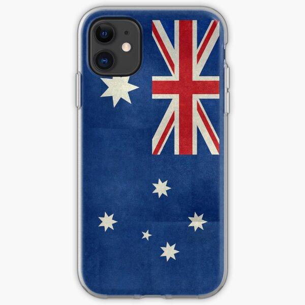 Flag of Australia, retro textured iPhone Soft Case