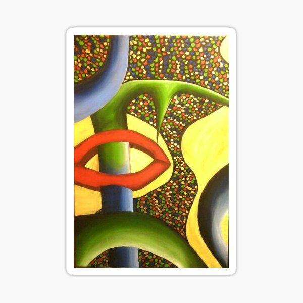 Abstract won Sticker