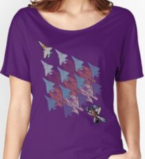 Camiseta ancha para mujer Transformación teselación