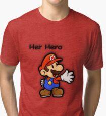 Mushroom Kingdom Couple: Mario Shirt Tri-blend T-Shirt