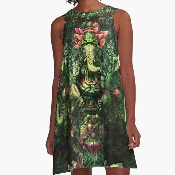 Lord Ganesha  A-Line Dress