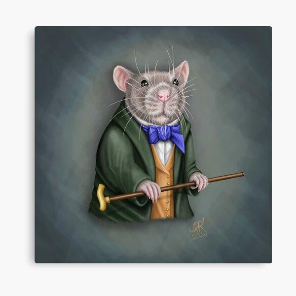 Dapper Rat Canvas Print