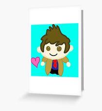 Chibi Tenth Doctor (David Tennant) Greeting Card