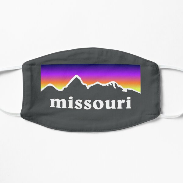Missouri Mountains Outdoor Hiking St. Louis Blues Kansas City State Flag Sunset Gift Ideas Mask