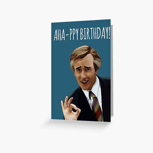 """Ahappy Birthday!"" Alan Partridge Birthday Card Greeting Card"