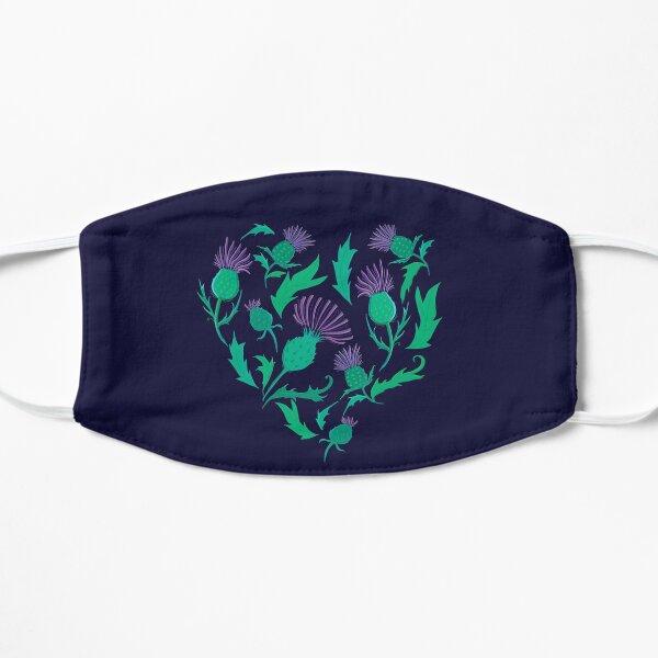 Scottish Thistle Heart Flat Mask