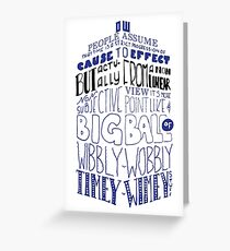 Doctor Who Timey Wimey Tardis Lettering Greeting Card