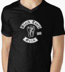 Black Tooth Grin Men's V-Neck T-Shirt