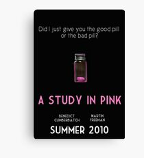A Study In Pink poster Canvas Print