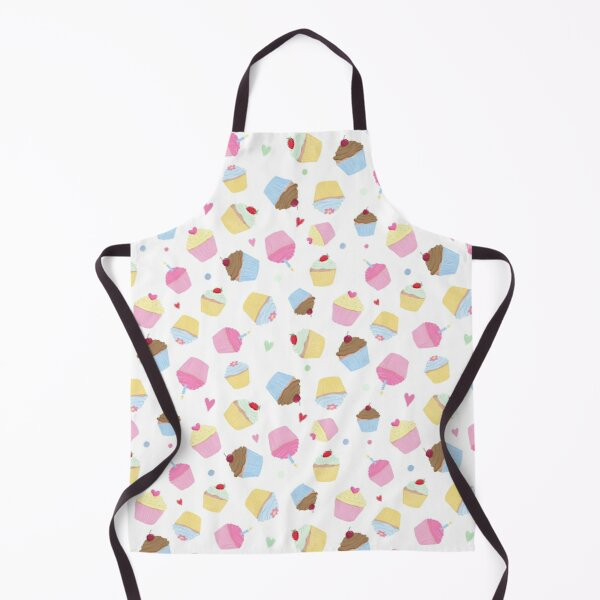 Cute Candy Pink Food Cupcakes Apron