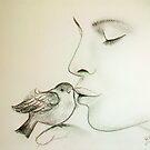 Bird-Kiss.... :) by karina73020