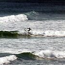 Surfing at Freshwater West by Paul  Green