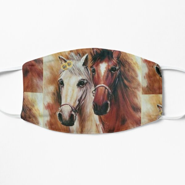 Horse Ridding Lovers Graphic Art Mask
