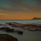 Frazer Beach Sunset Rocks by bazcelt