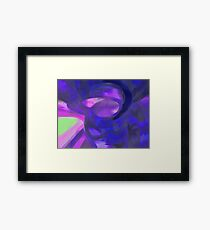 Blue Smoke Pastel Abstract Framed Print