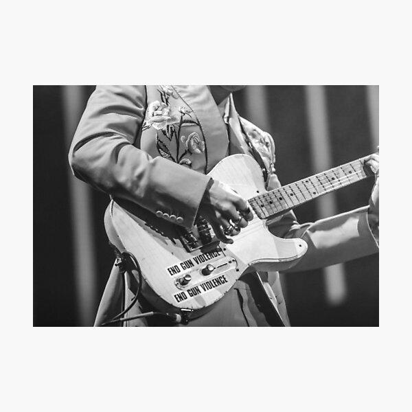 Black and White Guitar Photographic Print