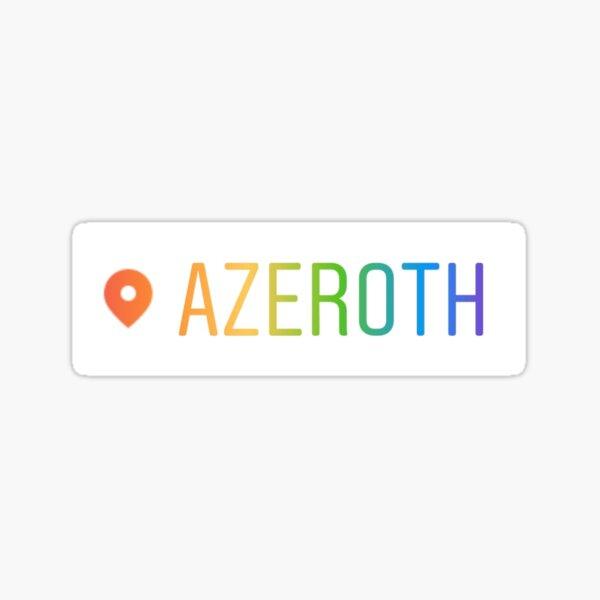Azeroth Sticker