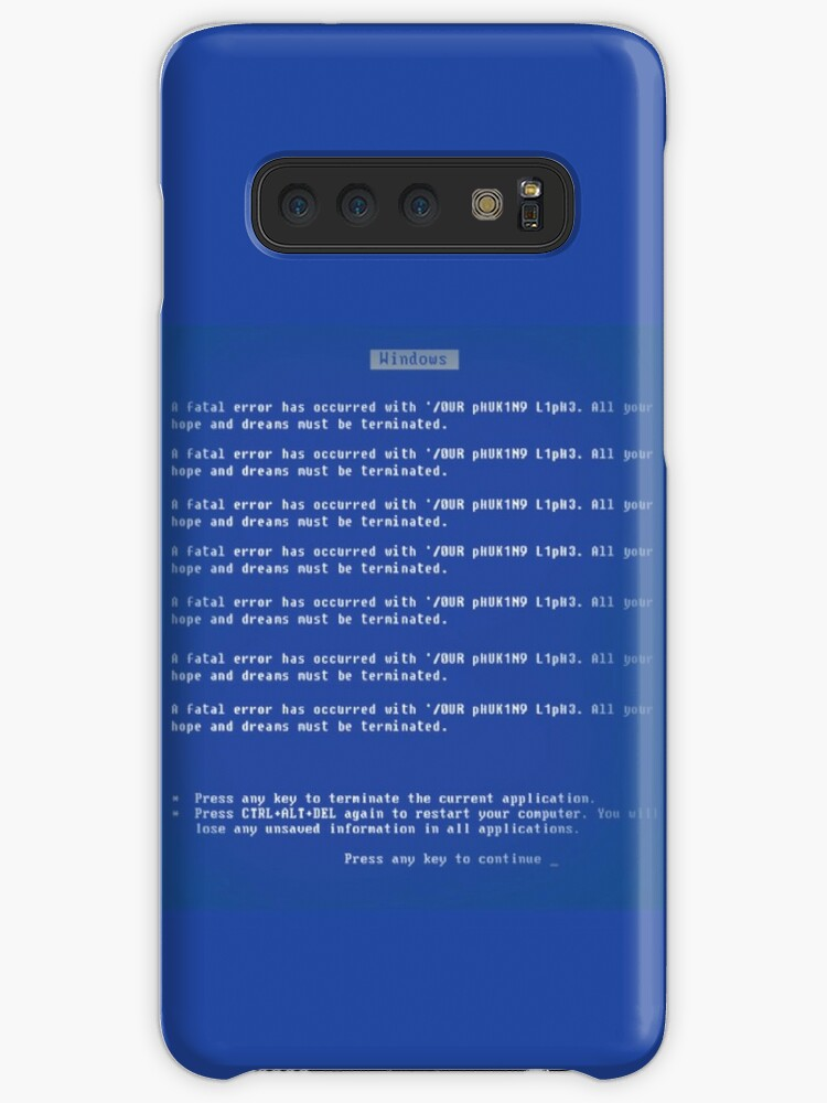 'Windows BSOD - Your dreams must be terminated' Case/Skin for Samsung  Galaxy by Corruptions