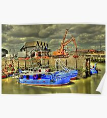 Fishing boats of Whitstable (HDR)  Poster