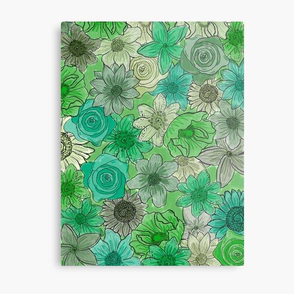 Green Floral background Metal Print