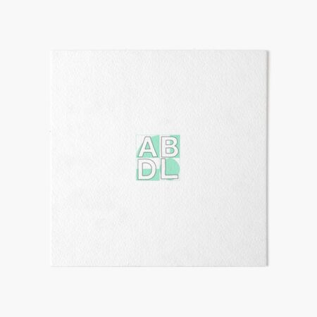 ABDL squares mint Art Board Print