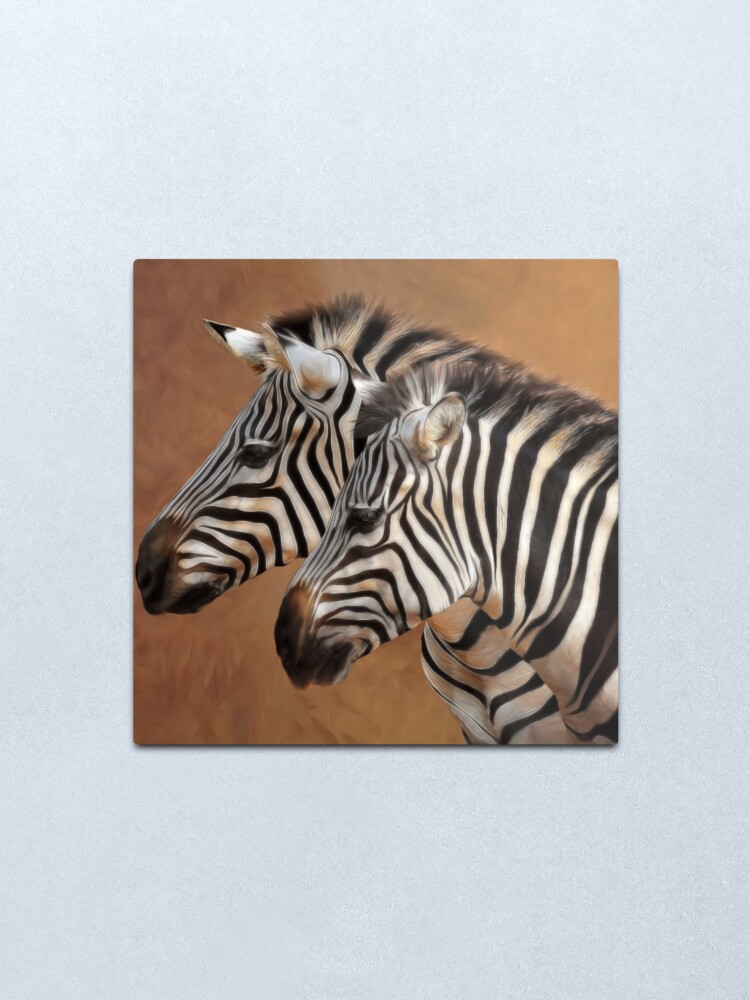 Alternate view of Savana Stripes Metal Print