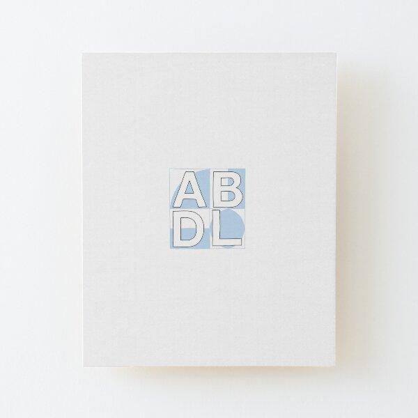 ABDL squares blue Wood Mounted Print