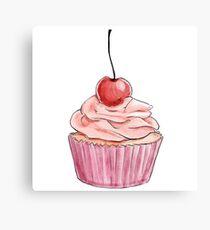 Fancy Pink Cupcake  Canvas Print