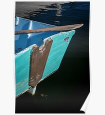 Blue Boat in Kennebunkport Poster