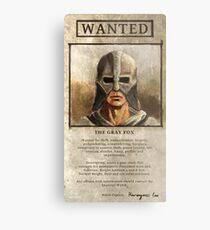 Wanted: The Gray Fox Metal Print