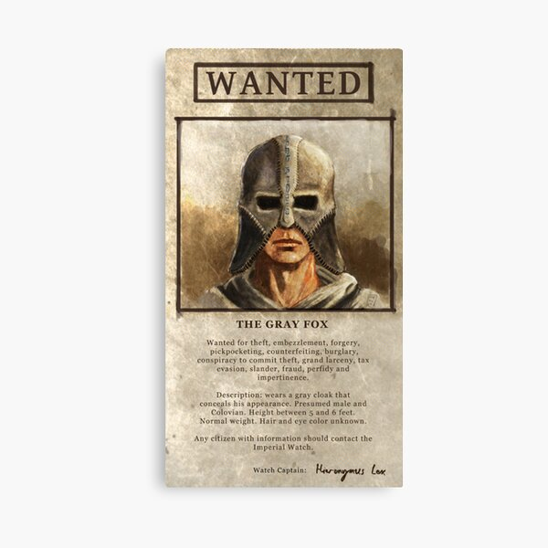 Wanted: The Gray Fox Canvas Print