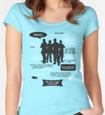 Stargate SG-1 - quotes (B/W design) Women's Fitted Scoop T-Shirt