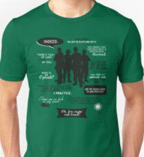 Stargate SG-1 - quotes (B/W design) Unisex T-Shirt
