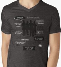 Stargate SG-1 - quotes (B/W design) Mens V-Neck T-Shirt