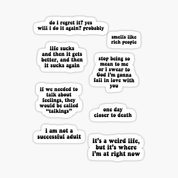 nick miller quotes pack Sticker