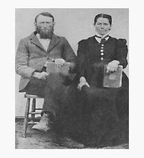 Benj. Franklin Ivy & wife Katie Gibbons Ivy, ca 1885 Photographic Print