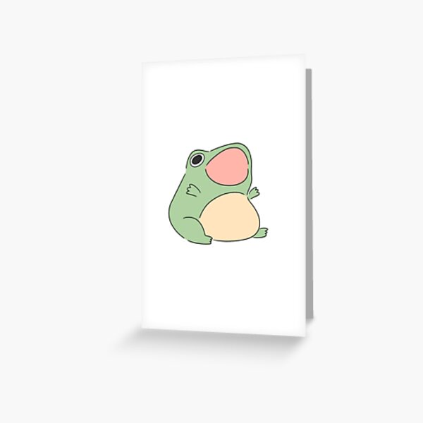 Screaming froggy Greeting Card