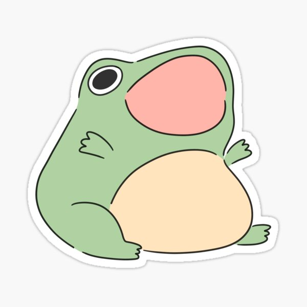 Froggy hurlant Sticker