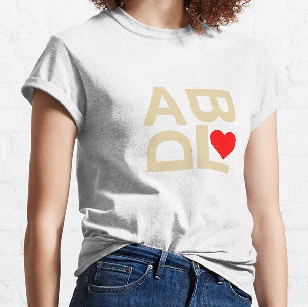 ABDL heart text peach Classic T-Shirt