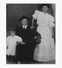 Geo Washington Langley, wife Ida Ivy Langley & Zorah Photographic Print
