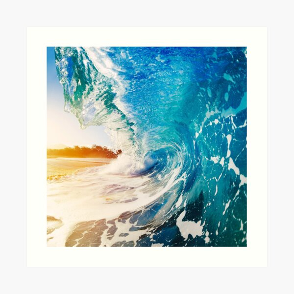 Sunny Ocean Waves Art Print