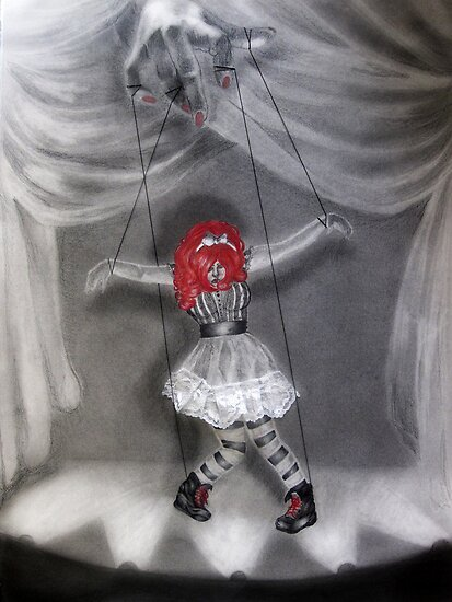 All Strung Up; Human Marionette by painted-lizard