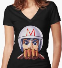 Mach 5 Women's Fitted V-Neck T-Shirt