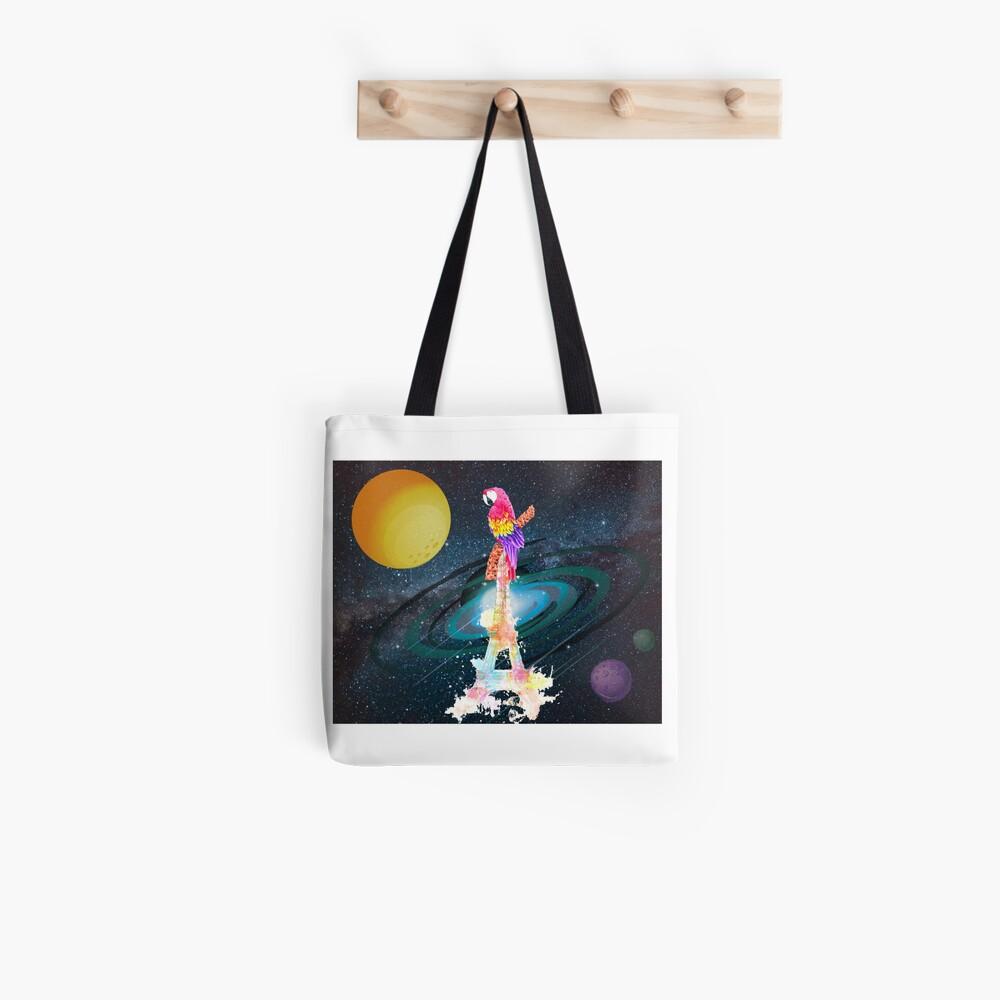 Paris Space Bird Tote Bag
