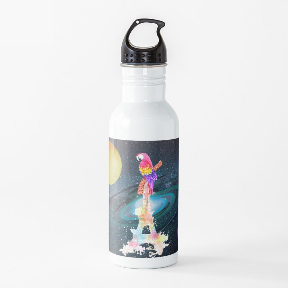 Paris Space Bird Water Bottle